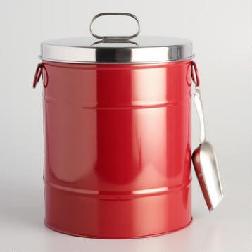 Red Pet Food Storage Container