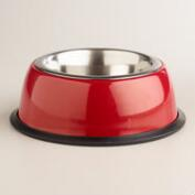 Red Stainless Steel Pet Bowl