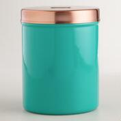 Blue Pet Treat Storage Container
