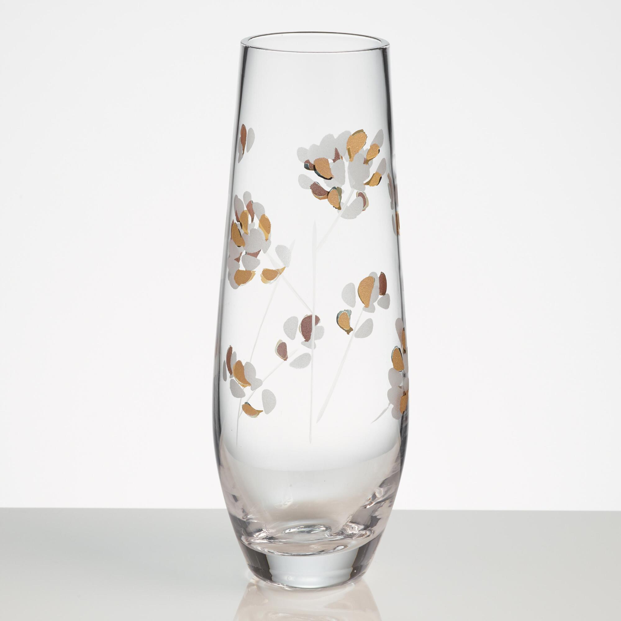 Etched Branches Stemless Champagne Flutes Set Of 4 World