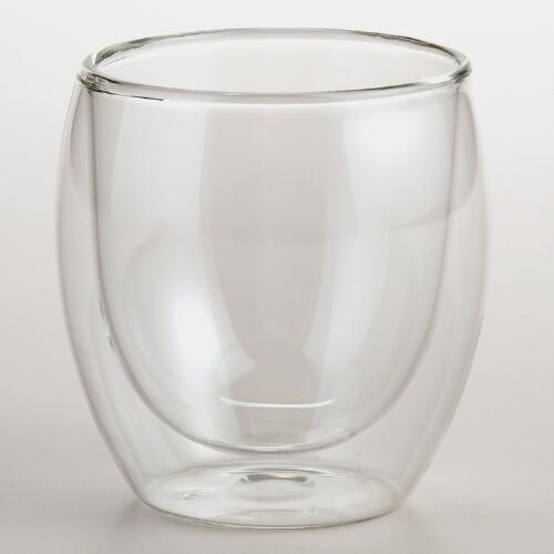 Double Wall Glass Cups, Set of 6