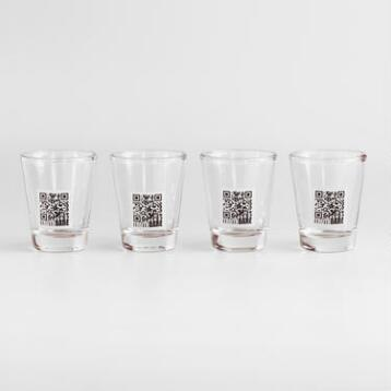 Truth or Dare Shot Glasses, Set of 4