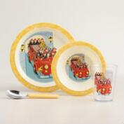 Fire Engine Tableware Set, 4-Piece