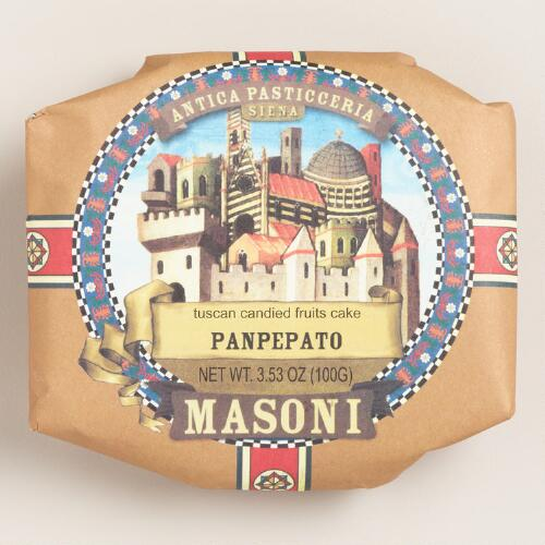 Masoni Panpepato Candied Fruitcake, Set of 2