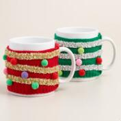 Tinsel Mugly Sweater Mugs, Set of 2