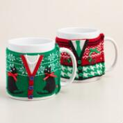 Mugly Sweater Vest Mugs, Set of 2