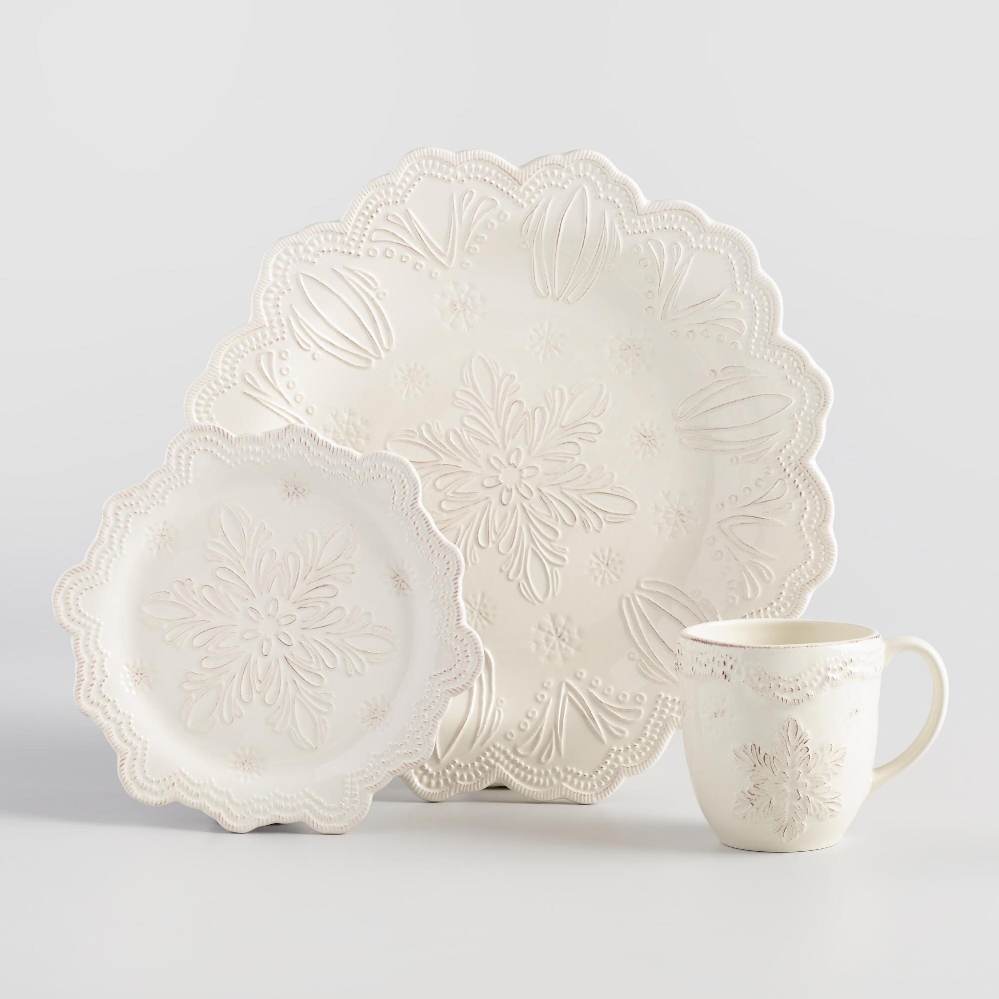 Embossed Snowflake Dinnerware World Market