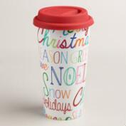 Tra La La Ceramic Travel Not-A-Paper Cup, Set of 4