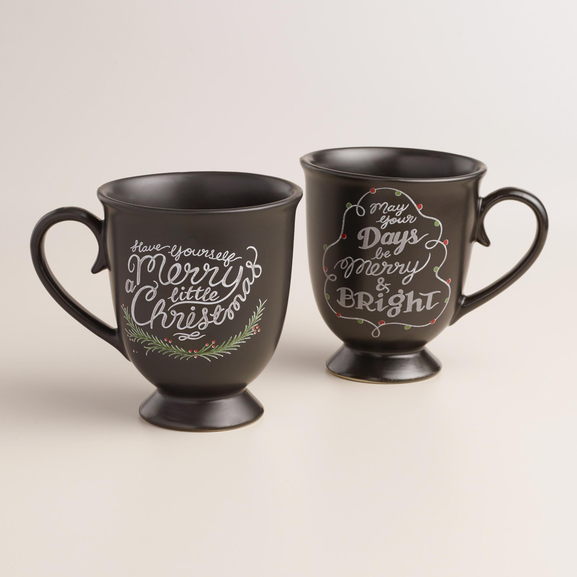 Chalkboard Christmas mugs