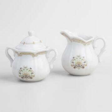 Downton Abbey Sugar Bowl and Creamer Set