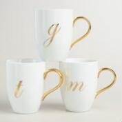 Gold Monogram Mug Collection