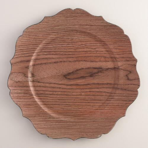Faux Wood Charger, Set of 4