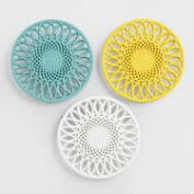 Sunflower Cast Iron Trivets, Set of 3