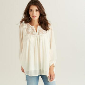 Ivory Lace Hayden Yoke Top