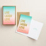 Live, Laugh, Love Boxed Holiday Cards, Set of 15