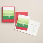 Ombre Merry Christmas Boxed Holiday Cards, Set of 15