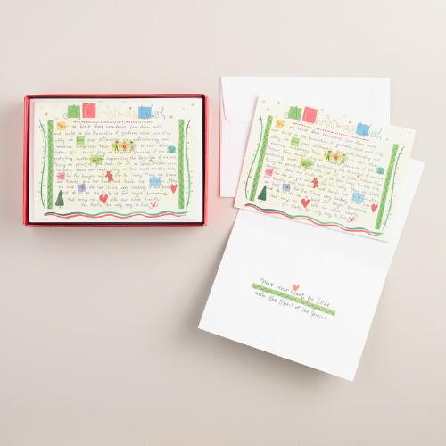 Greatest Gifts Boxed Holiday Cards,  Set of 15