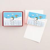 Snoopy on Ice Boxed Holiday Cards, Set of 20