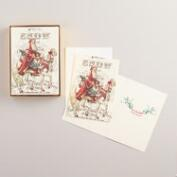 Victorian Santa Claus Boxed Holiday Cards, Set of 15