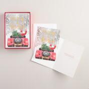 Santa in Car Boxed Holiday Cards, Set of 15