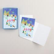 Global Kids Ice Skating Boxed Holiday Cards, Set of 15
