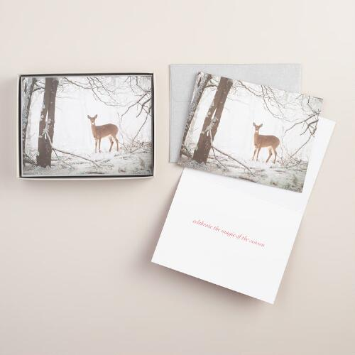 Doe in the Forest Greeting Cards, Set of 10