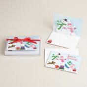 Snowman Family Boxed Holiday Cards, Set of 8