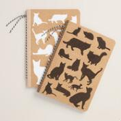 Cat Lined Kraft Journals, Set of 2