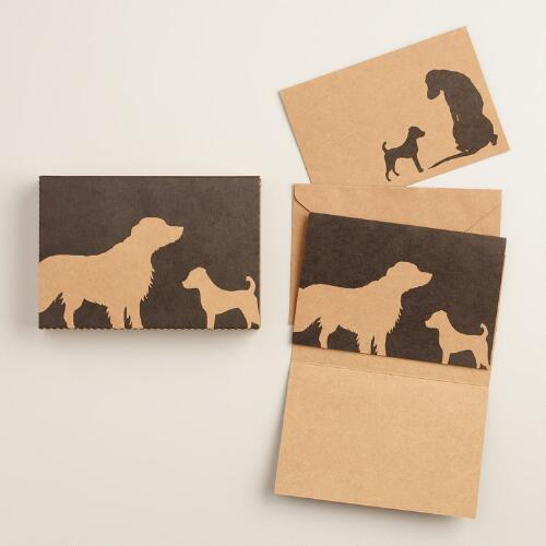 Dog Kraft Notecards, Set of 16