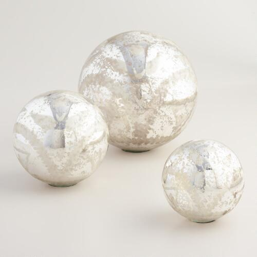 Mercury Glass Sphere Decor