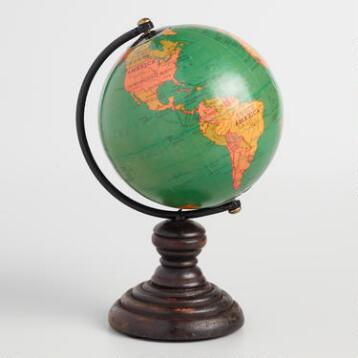 Mini Blue Globe on Stand