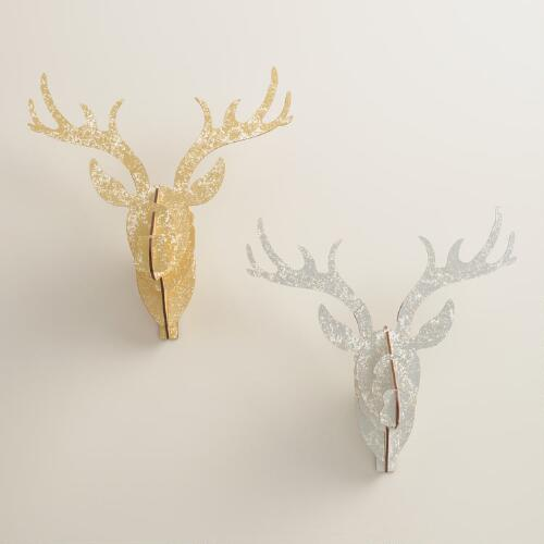 Large Stag Wall Bust Kits, Set of 2
