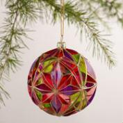 Multifaceted  Glass Ball Ornament