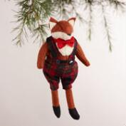 Boy and Girl Fox Ornaments, Set of 2