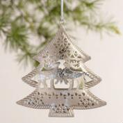 Metal Shapes with Deer Ornaments, Set of 6