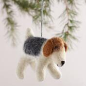 Felt Dog Ornaments,  Set of 2