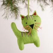 Felt Cat Ornaments, Set of 3