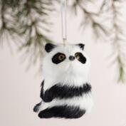 Fabric Panda Ornaments, Set of 4