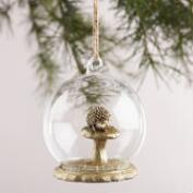 Glass Cloche Woodland Creature Ornaments, Set of 3
