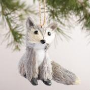 Natural Fiber Fox Ornaments, Set of 2