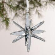 Glass 12-Point Star Ornaments, Set of 2