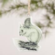 Black and White Ceramic Animal Ornaments, Set of 4