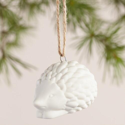 Porcelain Animal Ornaments, Set of 4