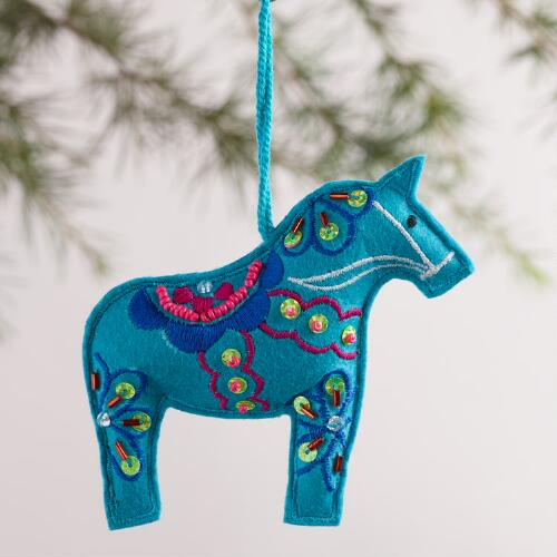 Swedish Horse Ornaments, Set of 3