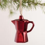 Ceramic Coffee Pots Ornaments, Set of 3