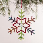 Multicolor Snowflake Ornaments, Set of 2