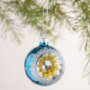 Glass Reflector Ornaments, Set of 3