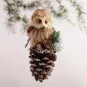 Great Horned Natural Fiber Owl Ornament