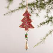 Metal Patterned Tree Ornaments, Set of 3