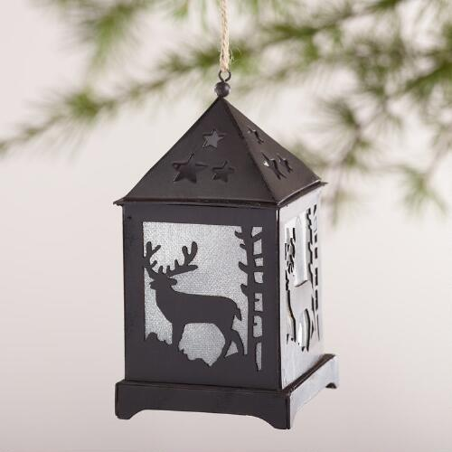 Winter LED Paper Lantern Ornaments, Set of 3